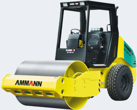 SINGLE DRUM - RUBBER TIRED ROLLER height=