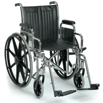 Standard Wheel Chair 16-in Seat W/ Foot Rests
